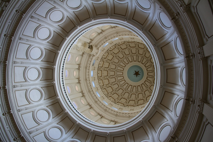 The immense rotunda, looking up!