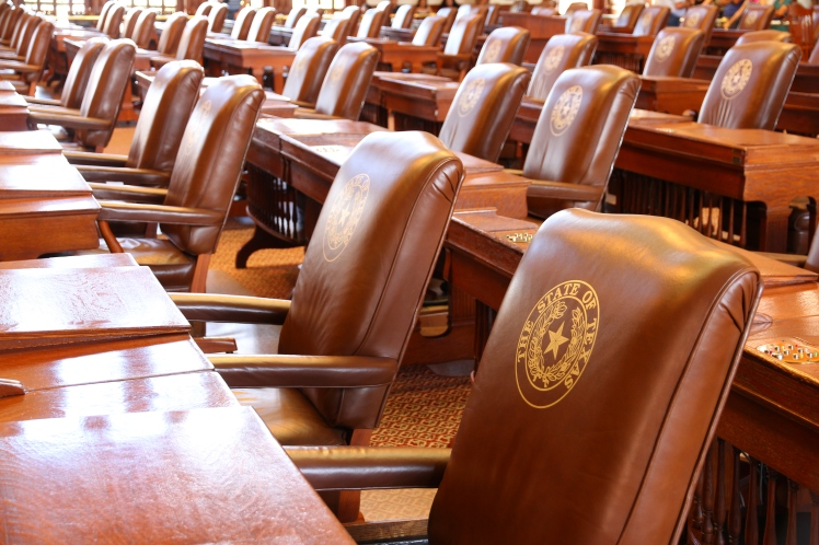 The fabulous leather seats for the Texan politicians