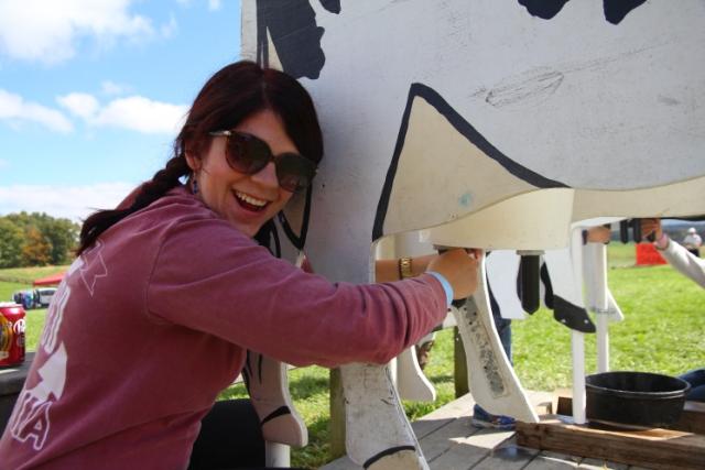 Practicing my cow milkin' skills
