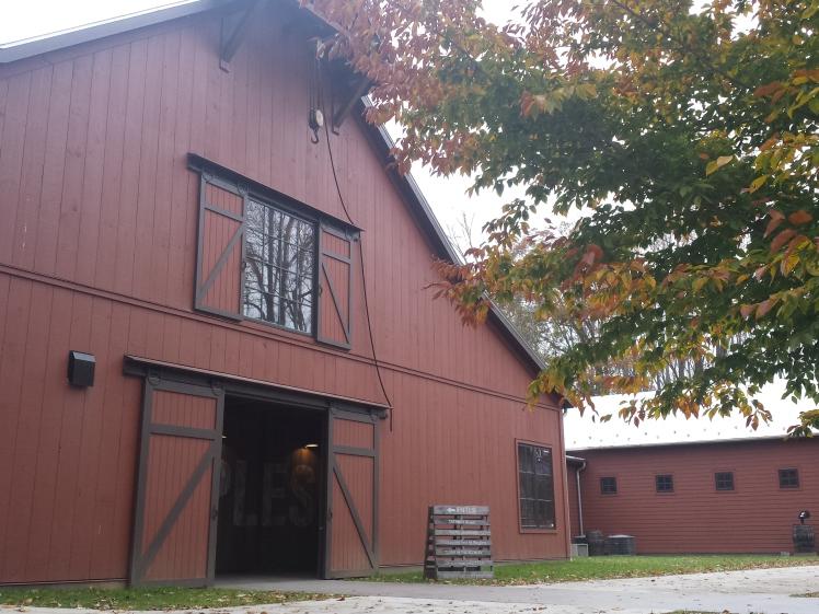 A massive red barn where the magic happens