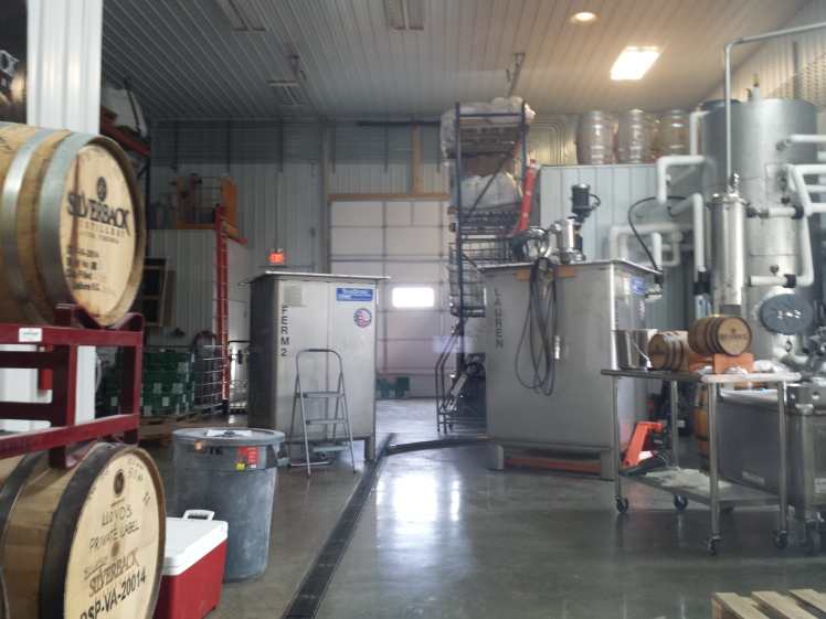 A peek inside the distilling room